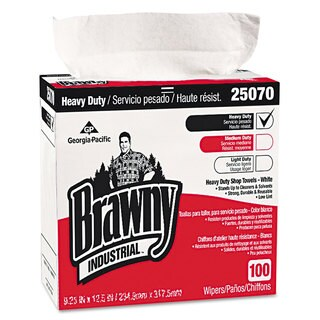 Georgia Pacific Professional Heavy-Duty Shop Towels 9 1/8 x 16 1/2 100/Box 5 Boxes/Carton
