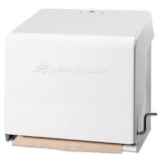 Georgia Pacific Mark II Crank Roll Towel Dispenser 10 3/4 x 8 1/2 x 10 3/5 White