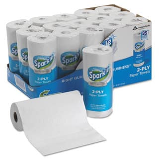 Georgia Pacific Professional Sparkle ps Perforated Paper Towel White 8 4/5 x 11 85/Roll 15 Roll/Carton https://ak1.ostkcdn.com/images/products/13863934/P20504506.jpg?impolicy=medium