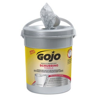 GOJO Scrubbing Towels Hand Cleaning Fresh Citrus,10 1/2x12 1/4 72/Canister,6/Crtn