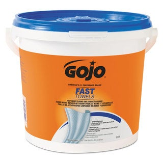 GOJO FAST TOWELS Hand Cleaning Towels 7 3/4 x 11 130/Bucket 4 Buckets/Carton