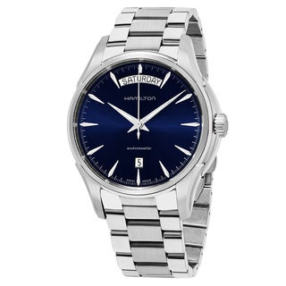 Hamilton Men's H32505141 'Jazzmaster' Blue Dial Stainless Steel Day Date Swiss Automatic Watch