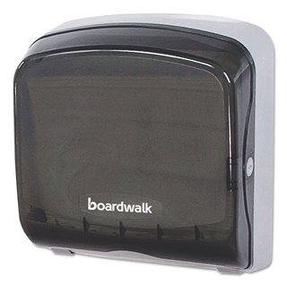 Boardwalk Mini Folded Towel Dispenser 5 3/8 x 12 3/8 x 13 7/8 Smoke Black