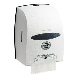 Kimberly-Clark Professional Windows Sanitouch Roll Towel Dispenser 12 63/100-inch wide x 10 1/5-inch deep x 16 13/100h White