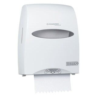 Kimberly-Clark Professional* Sanitouch Hard Roll Towel Dispenser, 12 63/100w x 10 1/5d x 16 13/100h, White