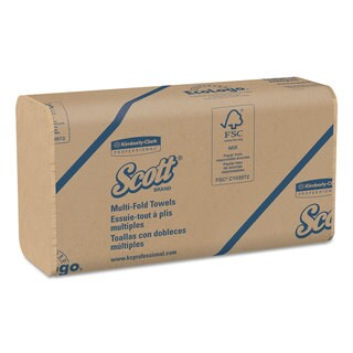 Scott Multi-Fold Paper Towels 9 1/5 x 9 2/5 Natural 250/Pack 16 Packs/Carton