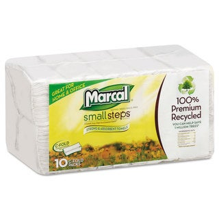 Marcal Embossed Paper Towels C-fold White 150/Pack