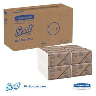 Scott Multi-Fold Paper Towels 9 2/5 x 9 1/5 White 250 Sheets 16/Carton
