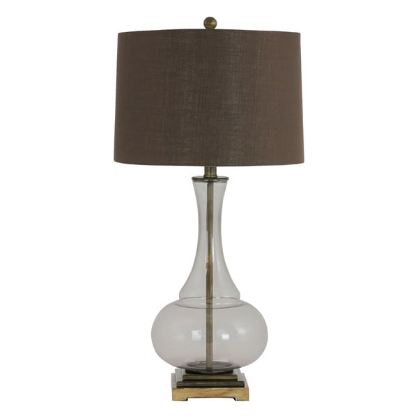 Kiera Brown Smoke Glass Table Lamp