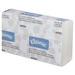 Kleenex Ultra Soft Multi-Fold Towels 2-Ply 9 1/4 x 9 1/2 150/Pack 16 Pack/Carton