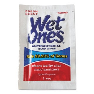 Wet Ones Antibacterial Moist Towelettes 5 x 7-1/2 White 1-Ply 240 Wipes/Carton