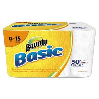 Bounty Basic Paper Towels 10.19 x 10.98 1-Ply 55/Roll 12 Roll/Pack