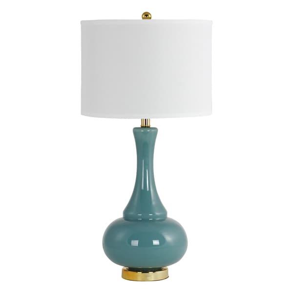 Adaliz Teal Glass Table Lamp
