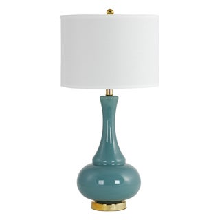 Adaliz Teal Glass Table Lamp