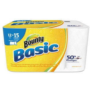 Bounty Basic Select-a-Size Paper Towels 5 9/10 x 11 1-Ply 89/Roll 12 Roll/Pack