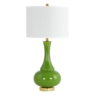 Adaliz Green Glass Table Lamp
