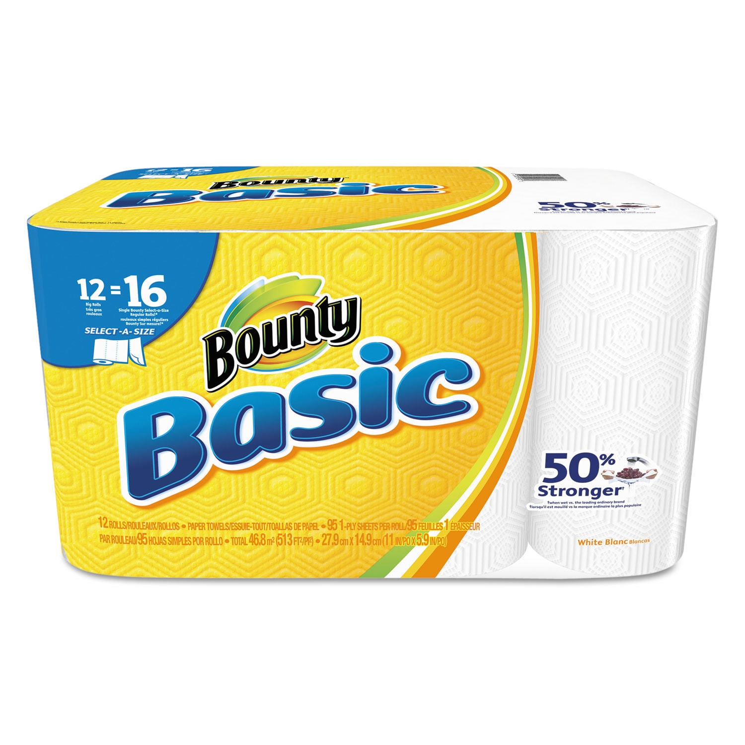 Bounty Basic Select-a-Size Paper Towels 5 9/10 x 11 1-Ply...