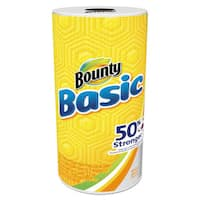 Bounty Basic Paper Towels 10.19 x 10.98 1-Ply 44/Roll 30 Roll/Carton