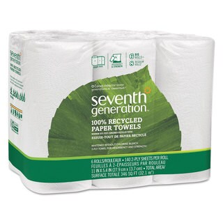 Seventh Generation 100-percent Recycled Paper Towel Rolls 2-Ply 11 x 5.4 Sheets 140 Sheets/Roll 24 Roll/Carton