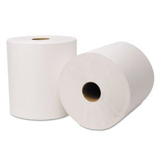 Wausau Paper EcoSoft Universal Roll Towels 800 ft x 8 in White 6 Rolls/Carton