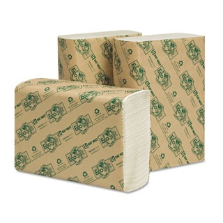 Wausau Paper EcoSoft Multifold Towels White 250 Towels/Pack 16 Packs/Carton