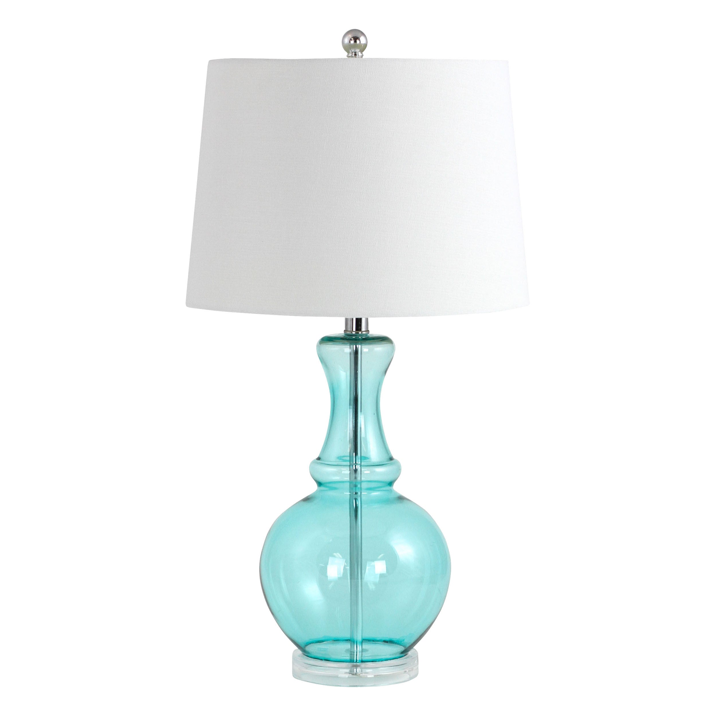 ASPIRE Sabine Teal Glass Table Lamp, Blue