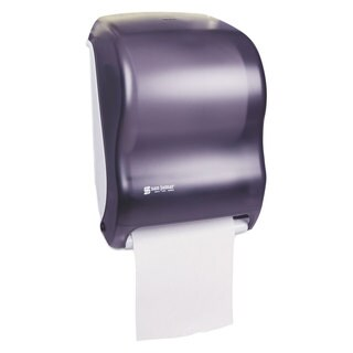 San Jamar Electronic Touchless Roll Towel Dispenser 11 3/4 x 9 x 15 1/2 Black