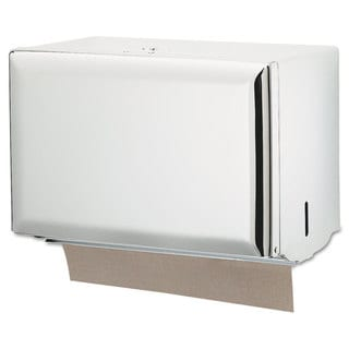 San Jamar Singlefold Paper Towel Dispenser White 10 3/4 x 6 x 7 1/2