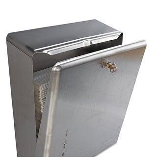 San Jamar C-Fold/Multifold Towel Dispenser Stainless Steel 11 3/8 x 4 x 14 3/4