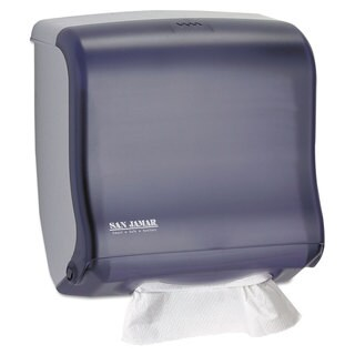 San Jamar Ultrafold Fusion C-Fold & Multifold Towel Dispenser 11 1/2x5 1/2x11 1/2 Black