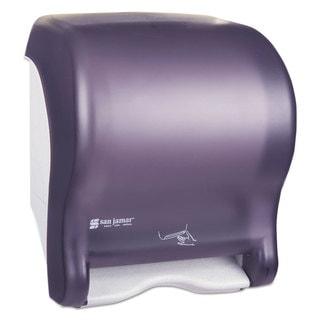 San Jamar Smart Essence Electronic Roll Towel Dispenser 14.4-inch high x 11.8-inch wide x 9.1-inch deep Black Plastic