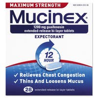 Mucinex Max Strength Expectorant 28 Tablets/Box