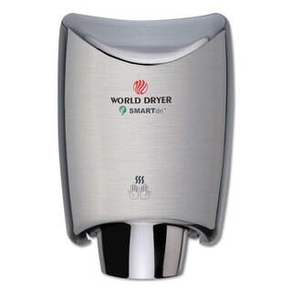 WORLD DRYER SMARTdri Hand Dryer Stainless Steel Brushed