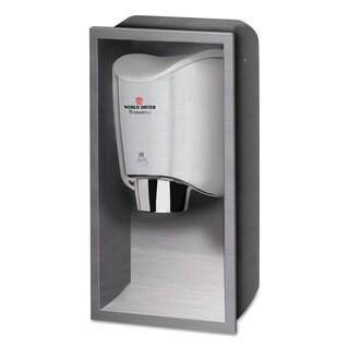 WORLD DRYER SMARTdri Hand Dryer Recess Kit 15 x 4 x 25 Stainless Steel