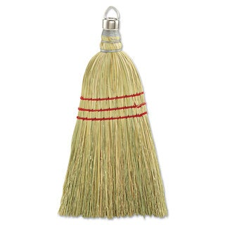 Boardwalk Whisk Broom Corn Fiber Bristles 10-inch Wood Handle Yellow 12/Carton