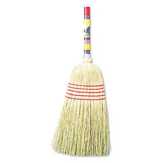 Boardwalk Maid Broom Mixed Fiber Bristles 42-inch Wood Handle Natural 12/Carton