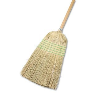 Boardwalk Parlor Broom Yucca/Corn Fiber Bristles 42-inch Wood Handle Natural 12/Carton