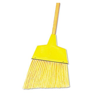 Boardwalk Angler Broom Plastic Bristles 42-inch Wood Handle Yellow 12/Carton