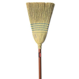 Rubbermaid Commercial Warehouse Corn-Fill Broom 38-in Handle Blue
