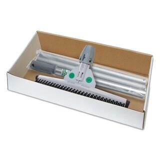 Unger SmartFit Sanitary Brush Kit with Handle 22-inch Rubber/Aluminum Black/White