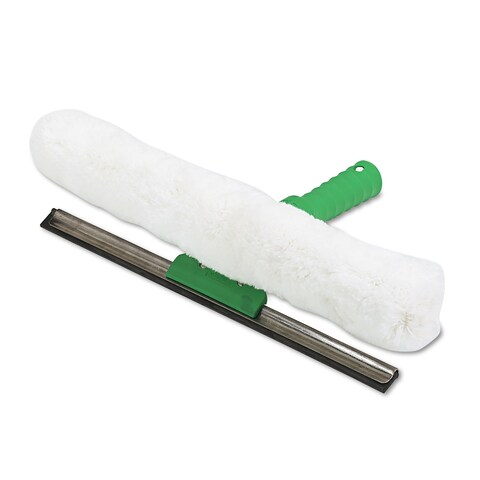 Unger Visa Versa Squeegee and Strip Washer,10 Inches Nylon/Rubber/Cloth White/Green