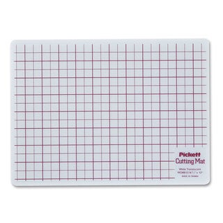 Chartpak Self-Healing Cutting Mat 8 1/2 x 12 White Translucent with Red Lines