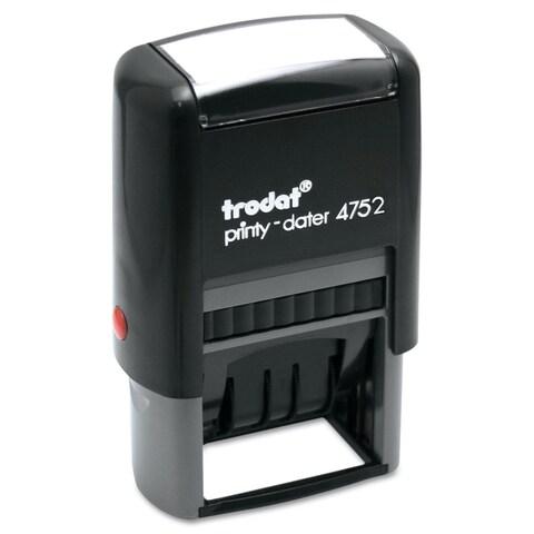 Trodat Trodat Economy Stamp Dater Self-Inking 1 5/8 x 1 Blue/Red
