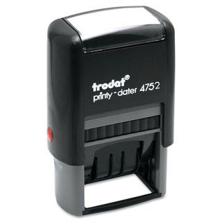 Trodat Trodat Economy Stamp Dater Self-Inking 1 5/8 x 1 Blue/Red