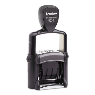 Trodat Trodat Professional Stamp Dater Self-Inking 1 5/8 x 3/8 Black