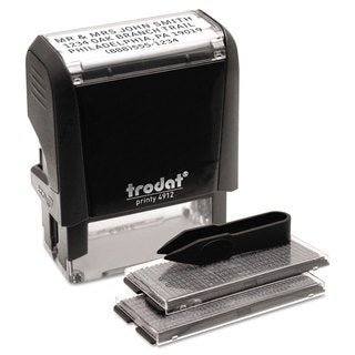 Trodat Self-Inking Do It Yourself Message Stamp 3/4 x 1 7/8