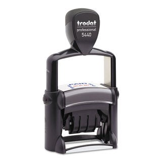 Trodat Trodat Professional 5-in-1 Date Stamp Self-Inking 1 1/8 x 2 Blue/Red