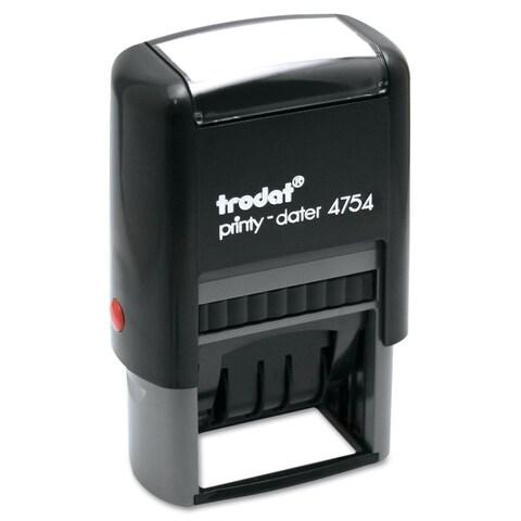 Trodat Trodat Economy 5-in-1 Stamp Dater Self-Inking 1 5/8 x 1 Blue/Red