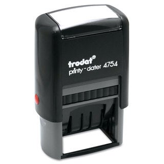 Trodat Trodat Economy 5-in-1 Stamp Dater Self-Inking 1 5/8 x 1 Blue/Red