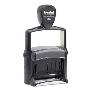 Trodat Trodat Professional 12-Message Stamp Dater Self-Inking 2 1/4 x 3/8 Black